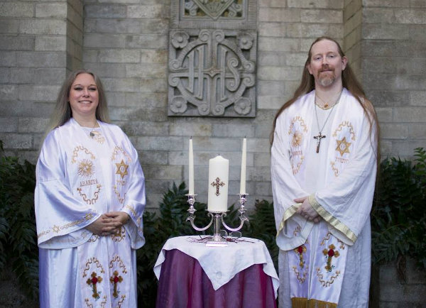 Father Aaron Leitch and Deacon Carrie Leitch